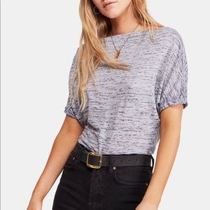 Free People Off the Shoulder Burnout T-Shirt